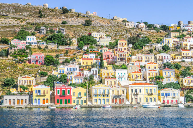 Hillside Homes in Symi, Greece
