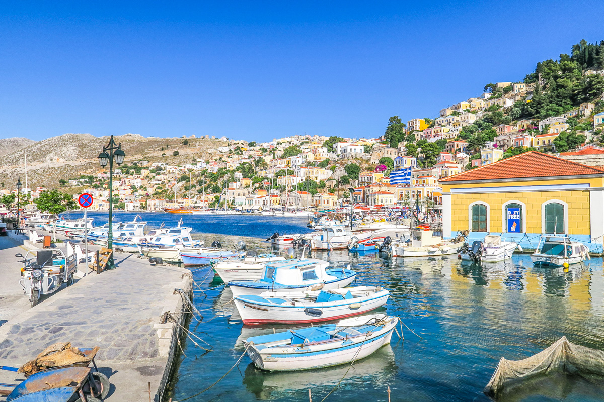 Port of Symi Greece