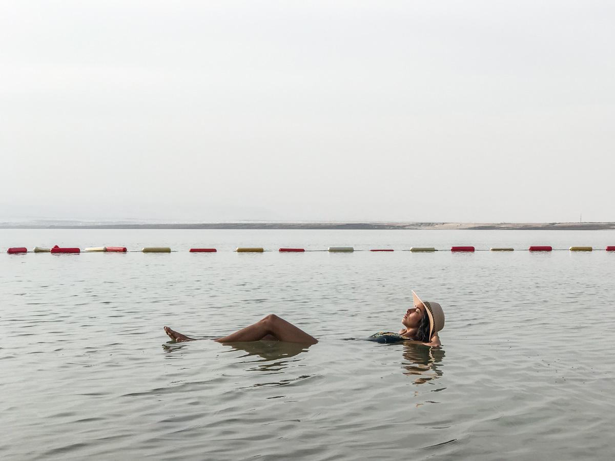 Floating in The Dead Sea - Jordan