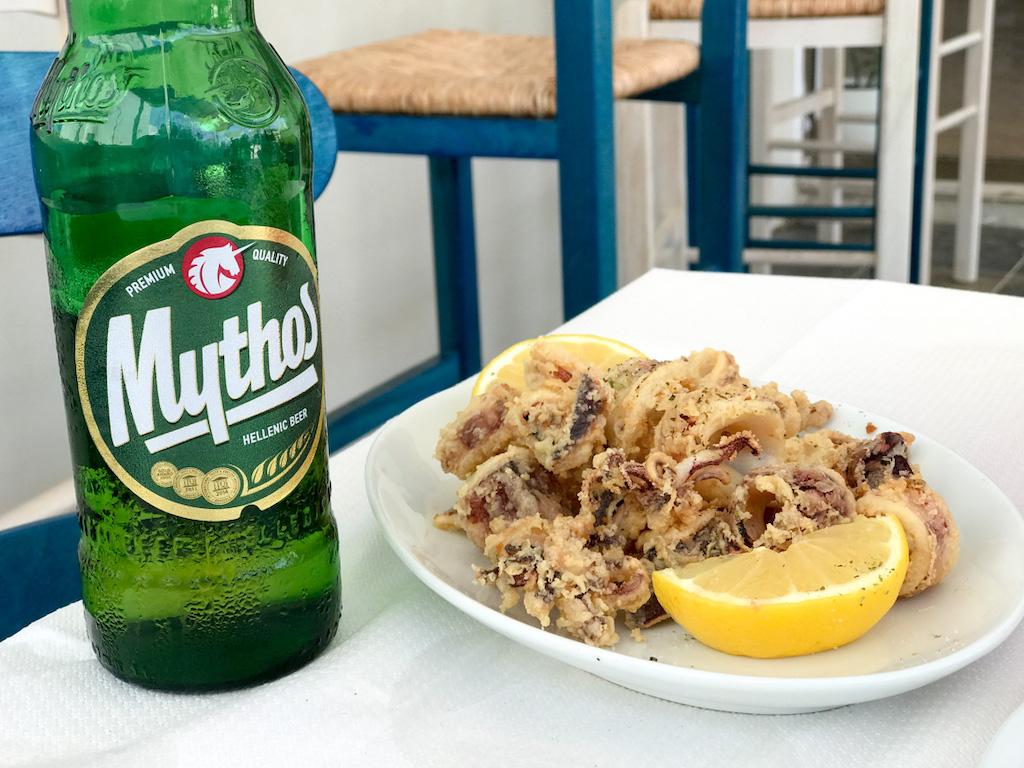 Lydia Restaurant Milos Greece Calamari