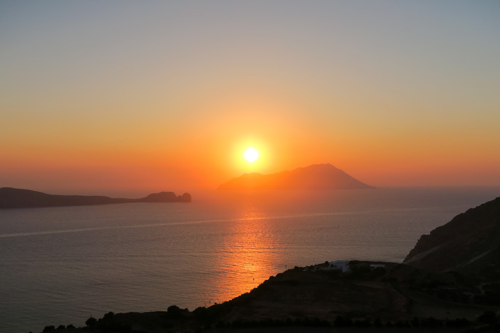 Utopia Cafe Sunset View Milos Greece