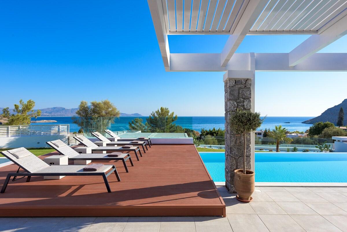 Louzoia Bay, Rhodes Luxury Villa