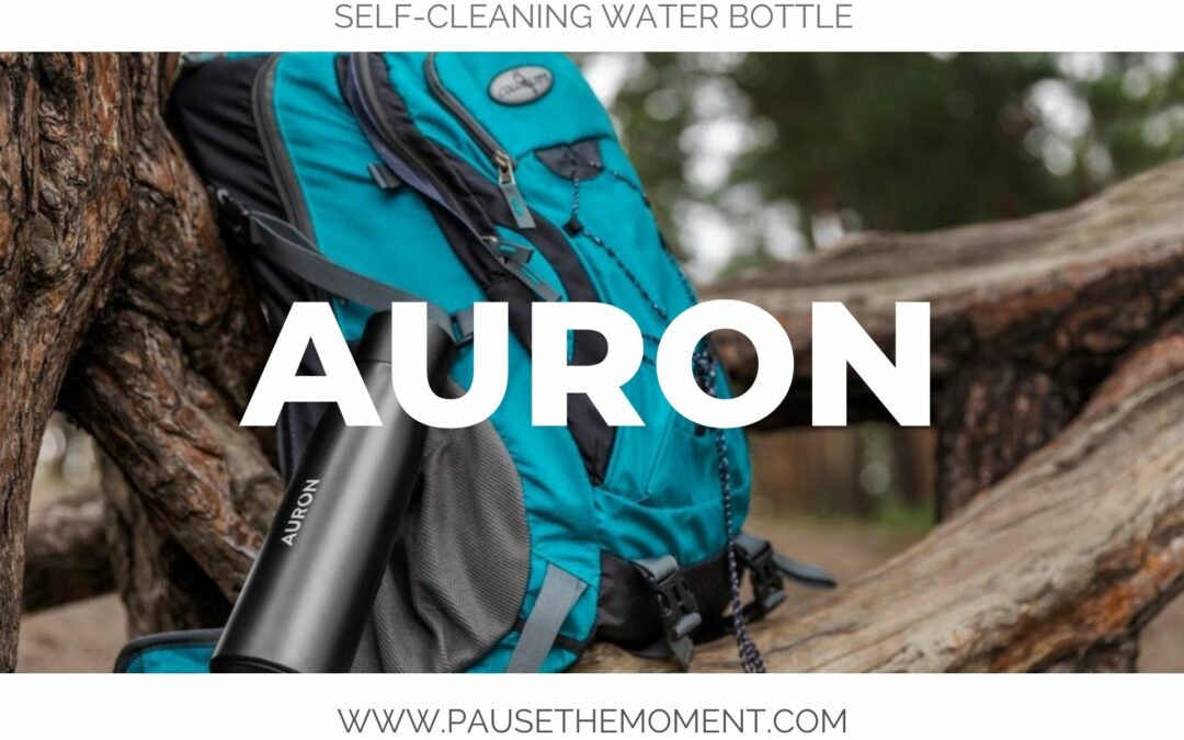 Auron Bottle: Self-Cleaning Water Bottle that Turns Any Water into Drinking Water